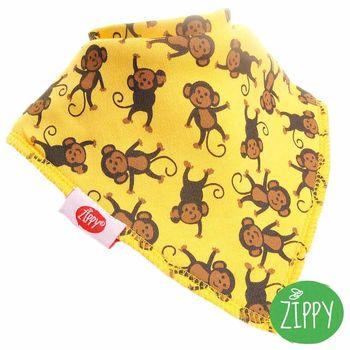 英國Zippy-幼兒時尚口水巾-猴子黃