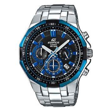 【CASIO】EDIFICE 多角切割簡約科技感指針腕錶 EFR-554D-1A2