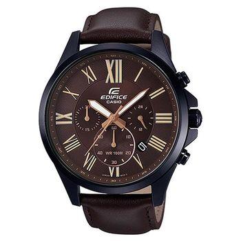 【CASIO】EDIFICE 高質感完美經典計時碼錶 EFV-500BL-1A