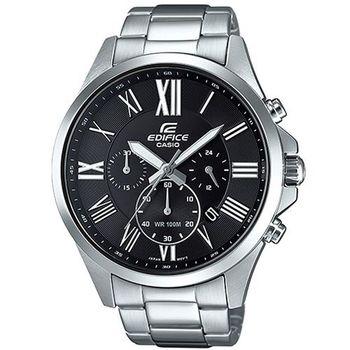 【CASIO】EDIFICE 高檔經典三眼羅馬指針腕錶 EFV-500D-1A