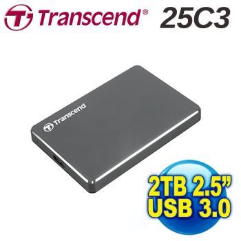 2.5吋 創見 2TB StoreJet 硬碟(TS2TSJ25C3N)