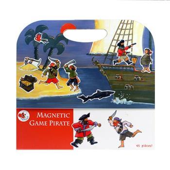 【BabyTiger虎兒寶】比利時 Egmont Toys 艾格蒙繪本風遊戲磁貼書 - 海盜船冒險故事
