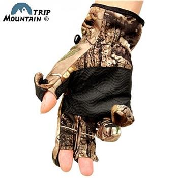 MOUNTAIN TRIP叢林迷彩攝影手套露三指螢幕觸控手套MG-802