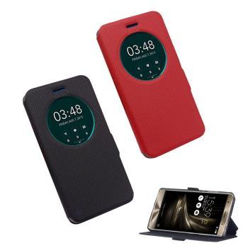 【YANG YI】揚邑 ASUS ZenFone 3 Deluxe 5.7吋  ZS570KL 星光紋開窗側立防滑智能休眠磁扣皮套