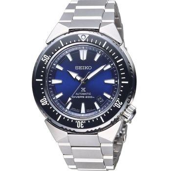 SEIKO PROSPEX SCUBA 聯名款 200米潛水機械錶 6R15-03G0B 黑x藍 SBDC047J