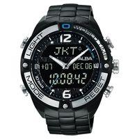 ALBA 雅柏 W兩個世界雙顯腕錶-黑/45mm N021-X002SD(AZ4015X1)