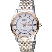 SEIKO 精工 Presage 羅馬假期機械錶 4R36-04E0G 雙色 SRP766J1