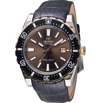 ORIENT 東方錶 SPORT系列 200M潛水機械錶 FAC09002T 咖啡色 皮帶款