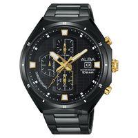 ALBA 東京聖誕限定計時腕錶-鍍黑/46mm VD57-X087SD(AM3403X1)