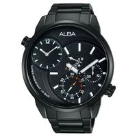 ALBA ACTIVE 二地時區限定腕錶-鍍黑/46mm DM04-X001SD(A2A001X1)