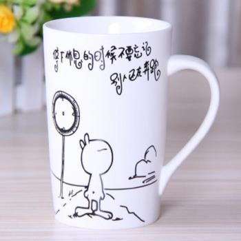 [協貿國際] 兔斯基勵志創意卡通骨瓷馬克杯  奮鬥