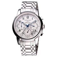 LONGINES Saint-Imier 經典復刻計時腕錶-白/39mm L27524736
