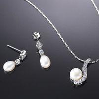 (小樂珠寶) 珍珠展現出純潔、溫柔,圓滿的優質感受,亮麗又溫潤的光澤--頂級天然珍珠項鍊多件式套組