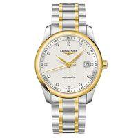 LONGINES 浪琴 Master 巨擘真鑽機械腕錶-銀x雙色/40mm L27935977