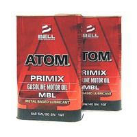 美國貝爾BELL---ATOM MBL MOTOR OIL 最新高科技長效修護配方全合成機油 5W30 SN【汽油車專用】4入