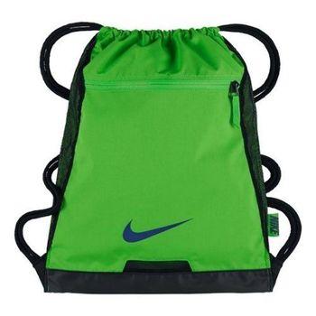 【Nike】2017時尚阿爾法Alpha健身翠綠色束口後背包(預購)