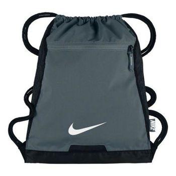 【Nike】2017時尚阿爾法Alpha健身深灰色束口後背包(預購)