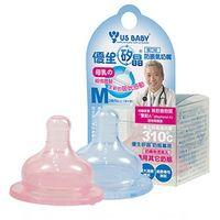任-【優生】矽晶防脹氣奶嘴(寬口標準M)