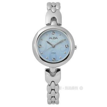 ALBA / VJ21-X092B.AH8345X1 / 璀璨施華洛世奇藍寶石水晶不鏽鋼手錶 淺藍色 29mm