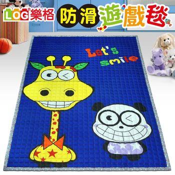 LOG樂格 防滑遊戲毯 -微笑長頸鹿 (200x150cmx厚1.5cm) 爬行墊/野餐墊/止滑墊/保潔墊