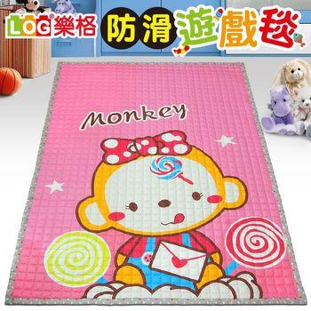 LOG樂格 防滑遊戲毯 -甜蜜的小猴 (200x150cmx厚1.5cm) 爬行墊/野餐墊/止滑墊/保潔墊