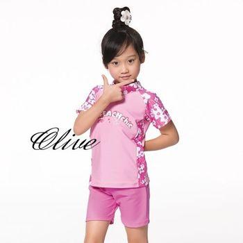 【蘋果牌】高領保暖設計時尚女童兩件式泳裝 NO.105615