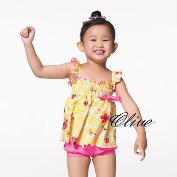 【蘋果牌】燈籠褲設計時尚女童兩件式泳裝 NO.105616