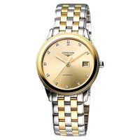 LONGINES 旗艦系列真鑽機械腕錶-半金/35.6mm L47743377