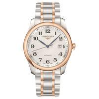 LONGINES 浪琴 Master 巨擘系列機械腕錶-銀x雙色版/40mm L27935797