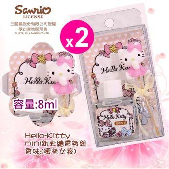 Hello kitty 新彩繪mini香氛組8ml(蜜桃女孩)X2