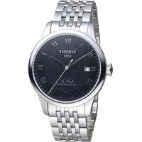 TISSOT Le Locle 力洛克自動80小時動力儲存機械腕錶 T0064071105300 黑