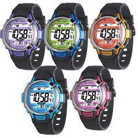 【JAGA 捷卡】色彩繽紛花漾年華多功能電子錶(M1048A)