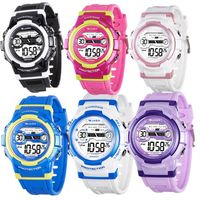 【JAGA 捷卡】色彩繽紛花漾年華多功能電子錶(M1126)