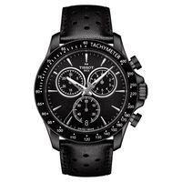 TISSOT 天梭 V8系列三眼計時腕錶-黑/42.5mm T1064173605100