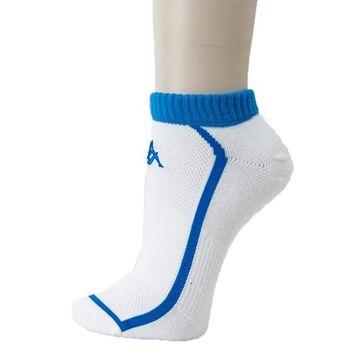 KAPPA 時尚型男休閒運動踝襪(薄底)~白 珊瑚藍4雙