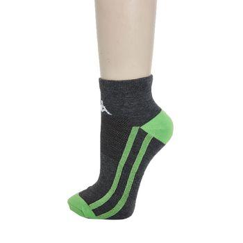 KAPPA 時尚型男休閒運動踝襪(薄底)~黑麻灰 蘋果綠3雙SM66-M232-8