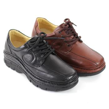 【GREEN PHOENIX】舒適休閒綁帶氣墊鞋(男鞋)-咖啡色、黑色