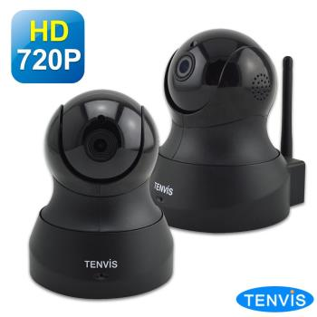 TENVIS TH-661 HD無線網路攝影機 (黑色兩入組)