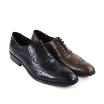 【GREEN PHOENIX】英倫風牛津雕花真皮紳士皮鞋(男鞋)-茶黃色、黑色