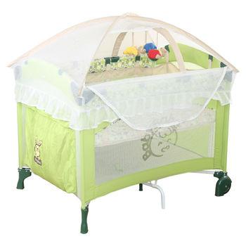 BabyBabe 拱型防夾遊戲床(進階半配款)-果綠