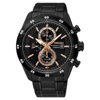SEIKO 精工 Criteria 零極限三眼計時腕錶-黑/44mm V176-0AR0K(SSC545P1)