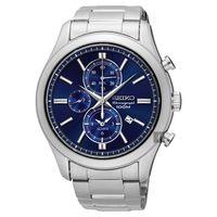 SEIKO精工 CS 紳士品味計時腕錶-藍/43mm 7T62-0LJ0B(SNAF65P1)