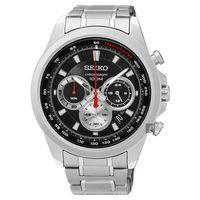 SEIKO精工 CS 破風競速計時腕錶-黑/45mm 8T63-00F0D(SSB241P1)
