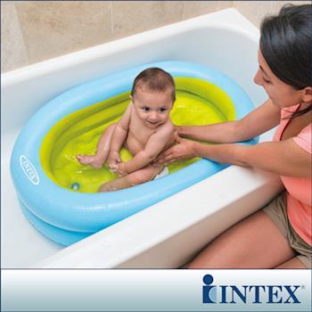 【INTEX】外出用-幼兒充氣浴盆-附送打氣筒(48421)