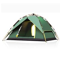 PUSH!戶外休閒拉繩式鋁合金桿3用4人四季專業型帳篷