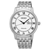 SEIKO精工 Presage 羅馬經典機械腕錶-白/40mm 4R36-04E0W(SRP761J1)