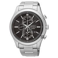 SEIKO 精工 CS 紳士品味計時腕錶-黑/43mm 7T62-0LJ0D(SNAF67P1)