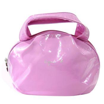 agnes b. 亮面軟皮小手提包(粉紫)
