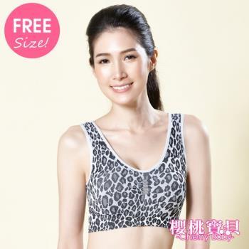 【Cherry baby】(5件組)台灣製大尺碼專利雙層運動內衣(附贈襯墊)
