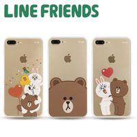 LINE FRIENDS iPhone 7 Plus透明霧面硬式保護殼